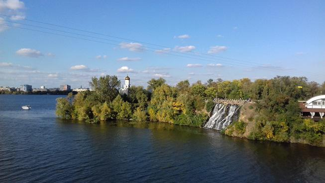 Klosterinsel in Dnipro