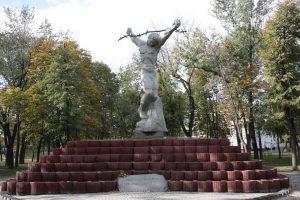 Denkmal im Kiewer Bezirk Darnitsa