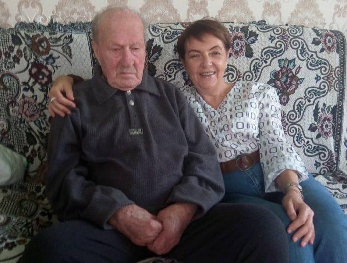 Nikolos Gvenetadse und Larisa Pokolenko